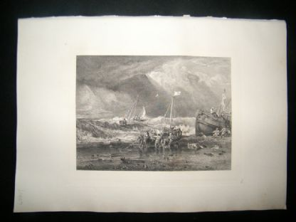 E. P. Branard after J. M. W. Turner 1885 Steel Engraving. Fishing Boats | Albion Prints
